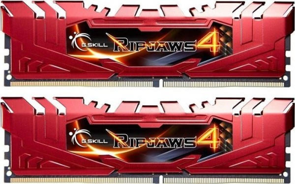 8GB DDR4-2800 CL16 G.Skill RipJaws 4 DIMM Kit (rot)