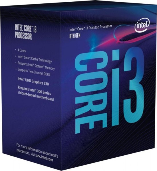 Intel Core i3-8100, 4x 3.60GHz boxed