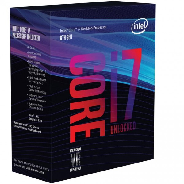 Intel Core i7-8700, 6x 3.20GHz boxed