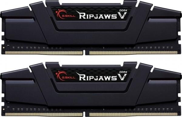 32GB G.Skill RipJaws V schwarz DIMM Kit, DDR4-3600, CL18-22-22-42 F4-3600C18D-32GVK