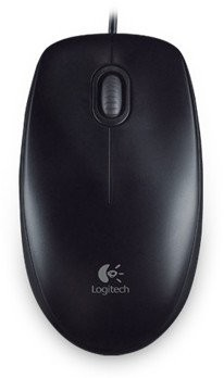 Logitech B100 Optical Mouse Black, USB