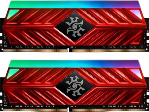 16GB DDR4-3600 CL17 ADATA XPG Spectrix D41 RGB DIMM Kit (rot)