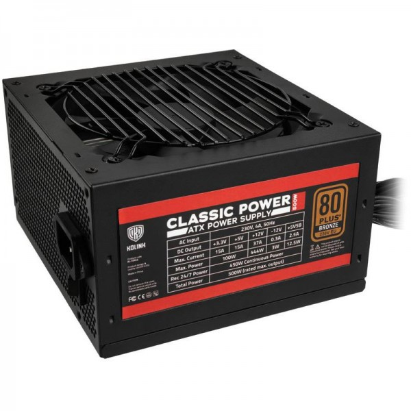 500W Kolink Classic Power 80+ Bronze