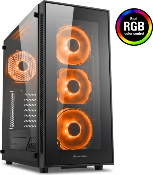 Sharkoon TG5 RGB, Glasfenster, Lüfter LED RGB
