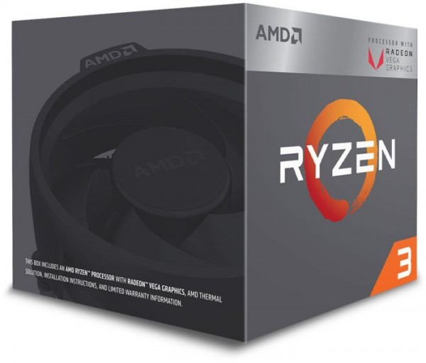 AMD Ryzen 3 2200G, 4x 3.50GHz boxed